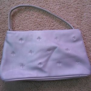 "Handbags - Smaller Silver Purse 5"" x 10"" w/o Strap GC"